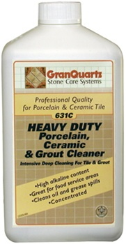 GranQuartz 631C Heavy Duty Porcelain, Ceramic & Grout Cleaner - 1 Liter