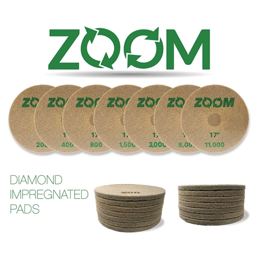 Stone Pro ZOOM Diamond Impregnated Pads